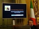 イタリア下院議員会館にて感染症予防対策のプレスカンファレンス